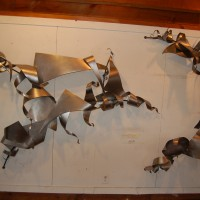 Two Part Steel Wall Sculpture
